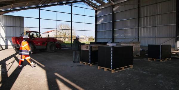 Chantier projet photovoltaïque