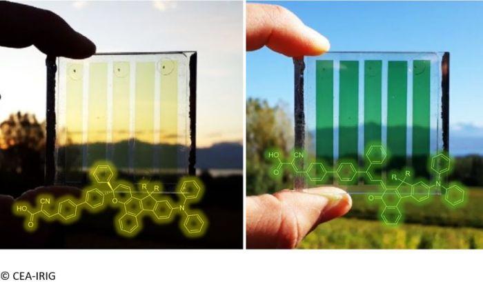 Vitres photovoltaïque - colorant photochrome