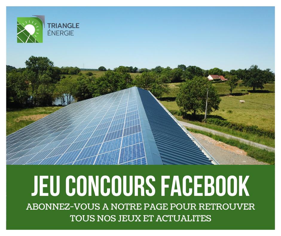 Jeu concours Facebook Triangle Energie