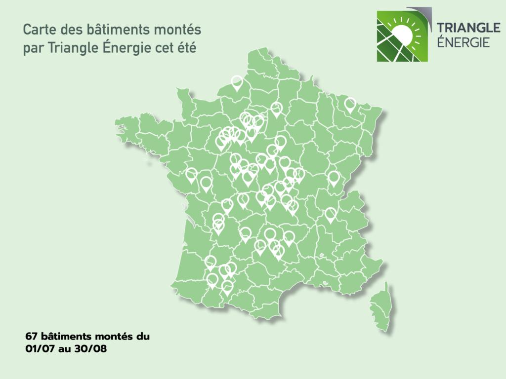 Bâtiments solaires montés en France