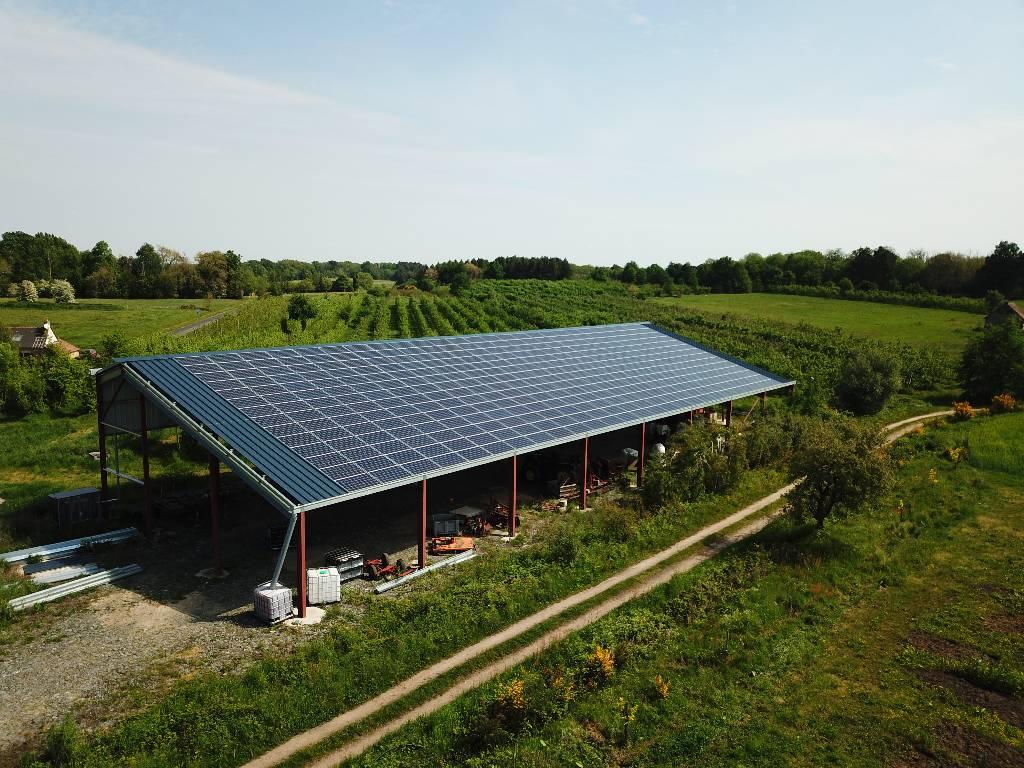 Bilan 2020 | Hangar solaire Triangle Énergie dans le Maine-et-Loire